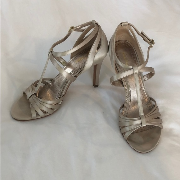 Brooks Brothers Shoes - Brooks Brothers strapping satin heels